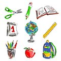 Back to school set izolated objects Royalty Free Stock Images