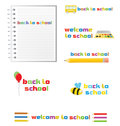 Back to school, set of signs, vector. Royalty Free Stock Photo