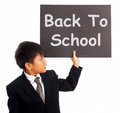 Back To School Sign As Education Symbol Royalty Free Stock Photos