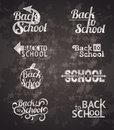 Back to school signs set of vector typography calligraphic designs Royalty Free Stock Image