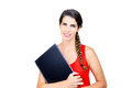 Back to school with a smile young woman laptop Royalty Free Stock Photo