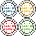 Back to school stamps Royalty Free Stock Photo