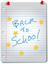 BACK TO SCHOOL star notebook education supplies Stock Photos