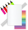 Back to School - Stationery Stock Images
