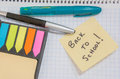Back to School Sticky Note Reminder Royalty Free Stock Photo