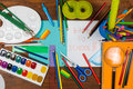 Back to school stop motion animation with pens and paints