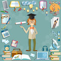 Back to school student education school subjects Royalty Free Stock Photo