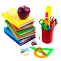 Back to school supplies. Isolated. Royalty Free Stock Photography