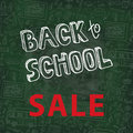 Back to School Supplies Sketchy chalkboard Doodles Royalty Free Stock Photo