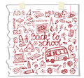 Back to School Supplies Sketchy Notebook.Doodles Royalty Free Stock Photo