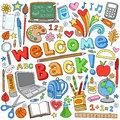 Back to School Supplies Vector Design Elements Royalty Free Stock Image