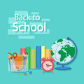 Back to school text. Royalty Free Stock Photo