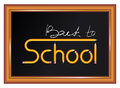 Back to school text desk art white Stock Photos