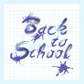 Back to school text with ink Royalty Free Stock Images