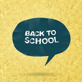 Back to school text in speech bubble Royalty Free Stock Photo