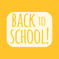 Back to school text vector illustration.