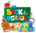 Back to school thematic image Stock Photos