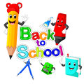 Back to School Title Texts with School Items
