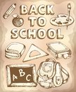 Back to school topic eps vector illustration Royalty Free Stock Photo