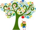 Na strom vzdělání ikony
