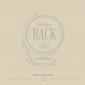 Back to school typographic element elements vintage style Royalty Free Stock Photos