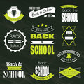 Back To School Typographic Emblems Royalty Free Stock Photo