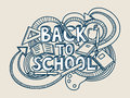 Back to school vector! Royalty Free Stock Photo
