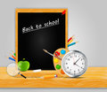 Back to school vector background this is file of eps format Royalty Free Stock Image