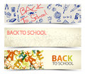 Back to School vector banners Royalty Free Stock Photo