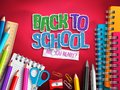 Back to school vector design with education elements, school supplies and colorful paper cut Royalty Free Stock Photo