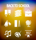 Back to school vector icons Royalty Free Stock Photo