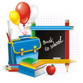 Back to school (vector illustration) Royalty Free Stock Photography