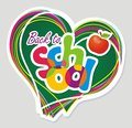 Back to school vector illustration color sticker accessories Stock Photo