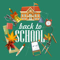 Back to school vector illustration. School supplies