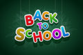 Back to school vector multicolored text Stock Image