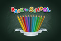 Back to school vector multicolored text Royalty Free Stock Photo