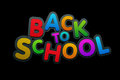 Back to school vector multicolored text Royalty Free Stock Image