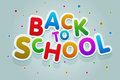 Back to school vector multicolored text Stock Images