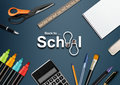 Back to school welcome background Royalty Free Stock Photography
