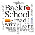Back to School Word Cloud Stock Images