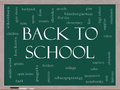 Back to School Word Cloud Concept on a Blackboard Royalty Free Stock Photography