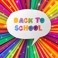 Back to school words in speech bubble Stock Image
