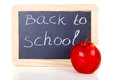 Back to school written on blackboard slate Royalty Free Stock Photo