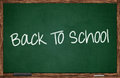 Back to school written on chalkboard Stock Photography