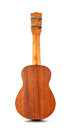 Back of ukulele on white background Stock Photography