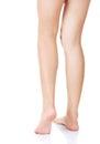 Back view of beautiful slim female legs Royalty Free Stock Photo