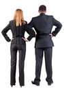 Back view of  business team look into the distance Royalty Free Stock Photography