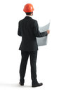 Back View Of Businessman In Or...