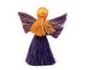 Back view of festive angel ornament christmas isolated on a white background Stock Photography