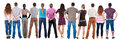 Back view group of people  looking Royalty Free Stock Photo